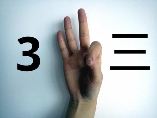 Zo tellen Chinezen drie met hun vingers