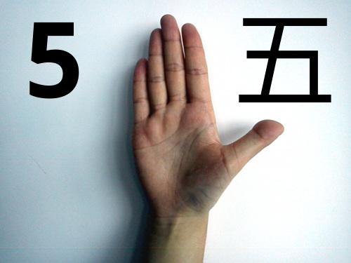 Zo tellen Chinezen vijf met hun vingers