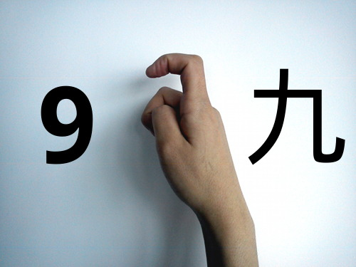 Zo tellen Chinezen negen met hun vingers