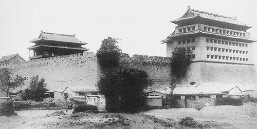 De Ming stadsmuur een eeuw geleden