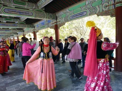 Chinezen die gek doen in de Tempel van de Hemel