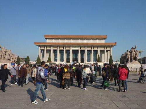 Mausoleum van Mao Zedong op het Plein van de Hemelse Vrede