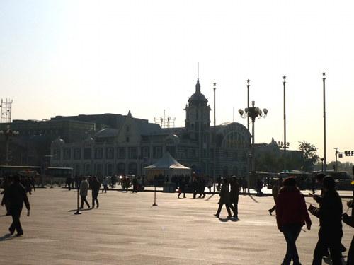 Oude treinstation van Beijing aan het Plein van de Hemelse Vrede