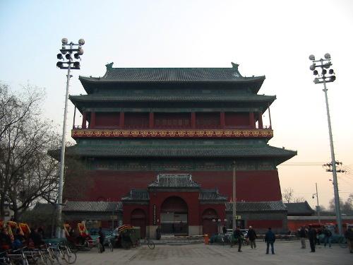 De eeuwenoude Trommeltoren in Beijing